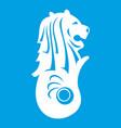 merlion statue singapore icon white vector image vector image