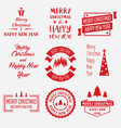 merry christmas lettering design set of vector image
