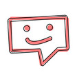 message icon sms icon cartoon style on white vector image vector image