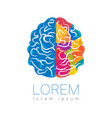 modern brain sign human creative style icon in vector image