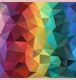 modern polygonal background in vertical rainbow vector image