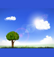 natural background with clouds and sun vector image vector image