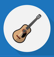 of multimedia symbol on guitar vector image vector image