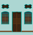 Old building Chino Portuguese vector image vector image
