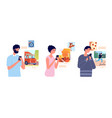 people browse social network girl browsing mobile vector image vector image