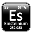 Periodic table element einsteinium icon