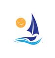 sail boat vector image vector image