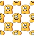 Seamless pattern of cartoon bread toast slices vector image