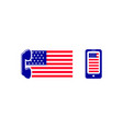 set of america mobile logo template vector image vector image