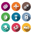 Set of Weightlifting Show Icons Wheel vector image vector image