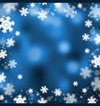 snowflakes christmas abstract background vector image vector image