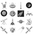 Space icons set gray monochrome style vector image