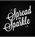 spread sparkle lettering on dark background vector image