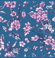 spring seamless pattern vintage floral vector image