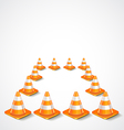 square from traffic cones vector image vector image