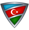 steel shield with flag azerbaijan vector image vector image