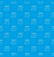 stone barbecue pattern seamless blue vector image