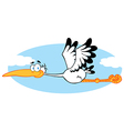 Stork Flying In The Sky vector image vector image