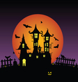sweet and beauty castle with bats vector image vector image