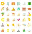 treasure icons set cartoon style vector image vector image