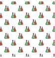 two colorful party hats pattern vector image