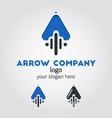 unique up arrow logo template using flat design vector image vector image