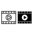 video player line and glyph icon media player vector image vector image