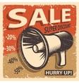 Vintage sale poster vector image vector image