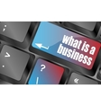 what is business button on computer keyboard key vector image vector image
