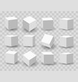 white 3d modeling cubes vector image vector image