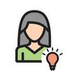 woman idea vector image