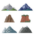 mountains and cliffs in set vector image