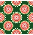 Seamless pattern with abstract circle vector image