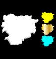 3d map of andorra vector image