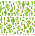 a childish bright cartoon cactus pattern vector image vector image