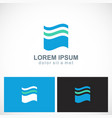 abstract wave water logo vector image vector image
