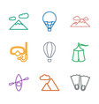 adventure icons vector image vector image
