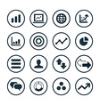 analytics research icons universal set vector image vector image