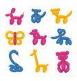 animals balloons cartoon kids party decoration vector image vector image
