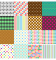 big set of abstract retro seamless simple patterns vector image