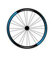 bike wheel icon vector image vector image