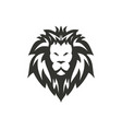 black lion icon design vector image vector image