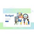 budget website landing page design template vector image