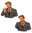 Business gesture by hand vector image vector image