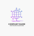 business international net network web purple vector image vector image