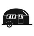 camp trailer icon simple style vector image vector image