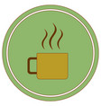 camping cup icon vector image