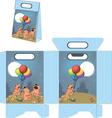 Cats celebrating birthday Handbag packages pattern vector image vector image