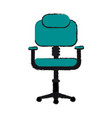 chair office draw vector image vector image