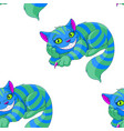 cheshire cat pattern vector image vector image